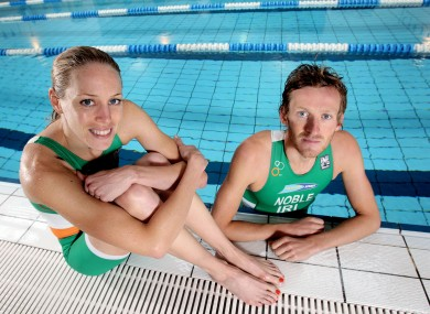 Aileen Morrison and Gavin Noble getting some pool time in at DCU.