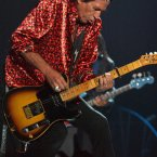 Richards performs at Wembley Arena, west London, as part of the band's Forty Licks world tour.