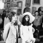 Mick Jagger and his bride, Bianca Perez Morena de Macias, are shown during their wedding in the Sainte-Anne chapel in Saint Tropez, 1971. 