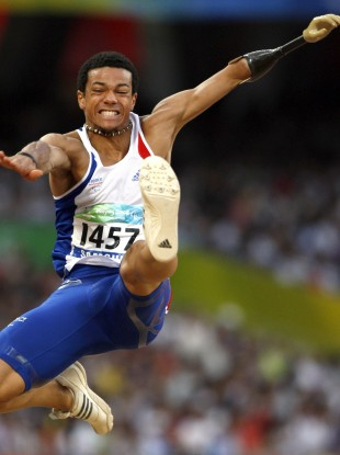 France's Arnaud Assoumani in action in Beijing in 2008.