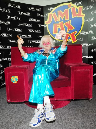 The late Jimmy Saville was reunited with his Jim'll Fix It chair in 2009