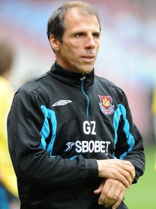 Zola during his time in charge of West Ham.