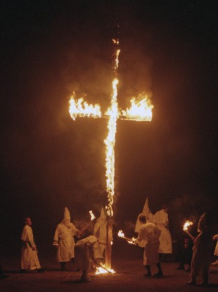 A cross is burned in Michigan (File photo)