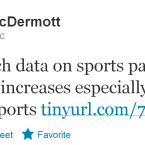 McDermott, who works at the Irish Sports Council, is clearly a sports fanatic judging by his account, and so like-minded people should obviously drop everything and follow him immediately.