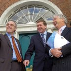 With David Drumm and Tom Browne, September 2004 (Pic Photocall Ireland)