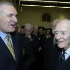 Former Taoisigh Liam Cosgrave and Bertie Ahern pictured in 2006. 