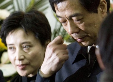 Bo Xilai, right, and his wife Gu Kailai, left