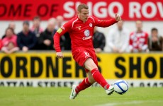 Sidelined: Sligo striker North out for the season