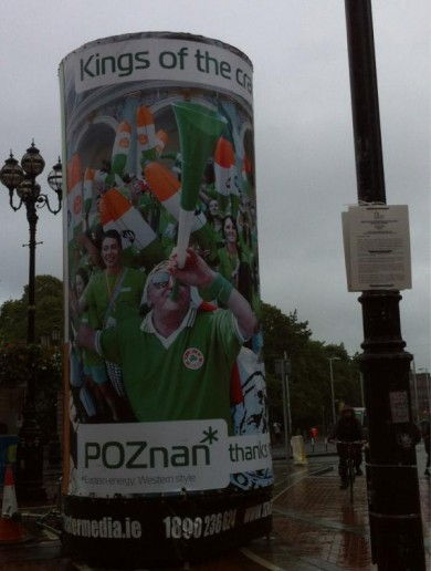 Poznan mayor organises Dublin billboards to thank Irish fans