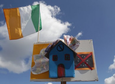 A creative anti-Household Charge banner from April protests in Galway