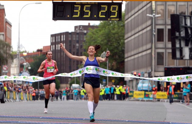 Catherine Jennings crosses the line to win 6/6/2011