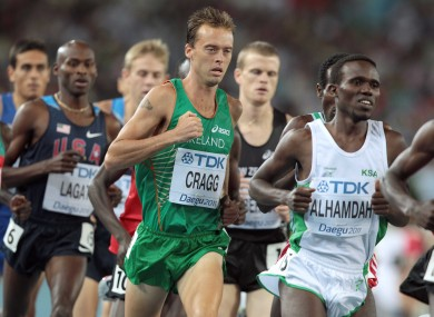 Cragg running in the World Athletic Championships in 2011. 