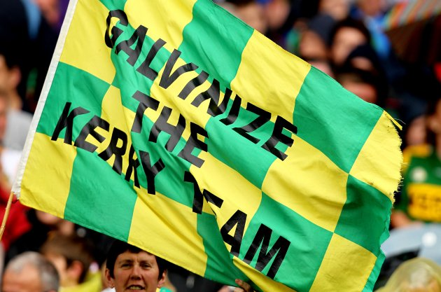A Paul Galvin flag in the crowd 21/8/2011