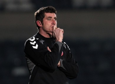 Derry City manager Declan Devine will be hoping his side can hinder Sligo's title chances this evening.