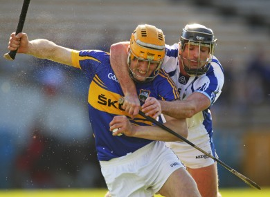 Pa Bourke is tackled by Tony Browne of Waterford when the sides met in the league.