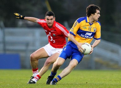 Shane Brennan, right, in action against Cork's Tom Clancy during the Munster U21 SFC semi-final.