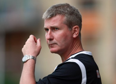 Under fire Stephen Kenny will be hoping his side can triumph in the EA Sports Cup.