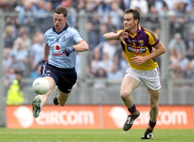 Dublin's Philip McMahon and Daithi Waters of Wexford.