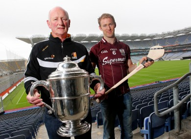 Kilkenny manager Brian Cody and Tony Og Regan of Galway.