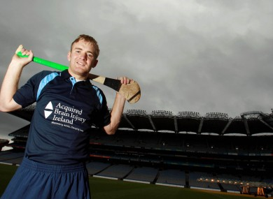 Tipperary hurler Noel McGrath at last week's launch of Acquired Brain Injury Irelands Concussion Awareness Campaign.