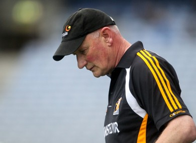 Brian Cody on the sideline during yesterday's sgock Leinster final defeat.