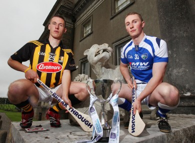 Kilkenny player and Bord Gais Energy Ambassador Cillian Buckley with Laois captain Darren King.