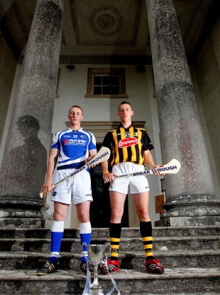 Laois captain Darren King and Kilkenny player and Bord Gais Energy Ambassador Cillian Buckley at Emo Court in Laois yesterday.