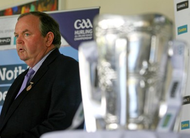 Liam O'Neill at yesterday's launch of the All-Ireland SHC