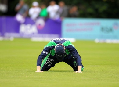 Ireland's Niall O'Brien reacts.