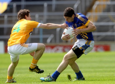 Tipperary's Philip Austin and Kevin O'Boyle of Antrim.