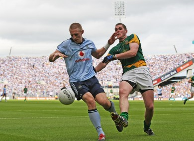 Eoghan O'Gara in action for Dublin yesterday.