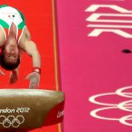 Ireland's Kieran Behan competes in the vault at the Olympics. (©INPHO/Presseye/William Cherry)