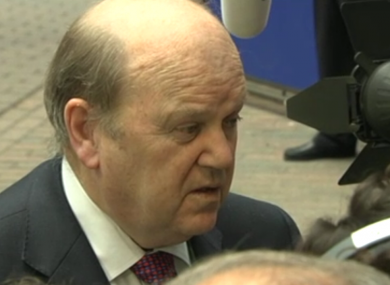 Noonan speaking to reporters after yesterday's meeting