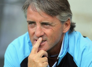 Roberto Mancini: 'Defending the title should be our target this year.'