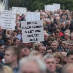 Thousands of People Attends a rally in support of Formerly Ireland's richest man, Sean Quinn and his Family in Ballyconnell in Co Cavan tonight   Picture date:Sunday July 29, 2012. Photo credit should read: Niall carson/PA Wire