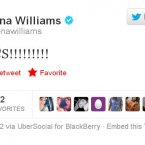 Serena Williams is excited about the Olympics (we think).