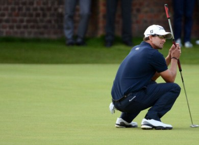 Adam Scott left a four-shot lead slip to Ernie Els last month.