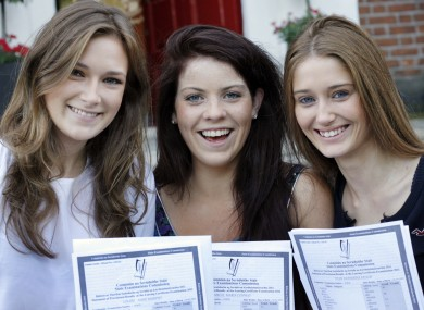 Students receiving their Leaving Cert results at Loretto College in Dublin last year