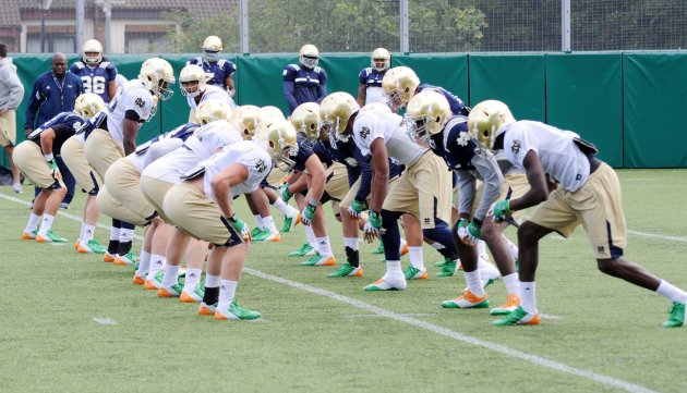Notre Dame training