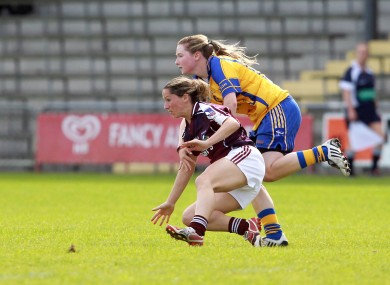 Ailish Considine of Clare with Rebecca McPhilbin of Galway