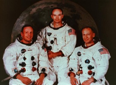 Apollo 11's crew. From left: Neil Armstrong, Michael Collins and Buzz Aldrin.