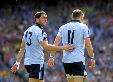 Alan Brogan, right: back in the Dublin attack following his injury.