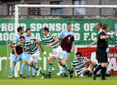 Ciaran Kilduff turns to celebrate after scoring the opening goal.