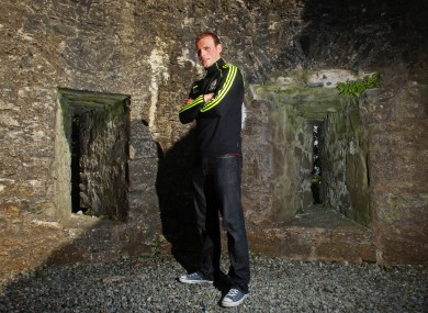 Galway attacker Cyril Donnellan at a press night in Athenry Castle last week.