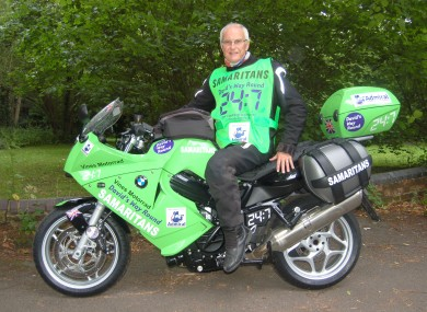 David Exley and his bike on the fundraising challenge.
