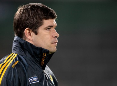 Eamonn Fitzmaurice managing the Kerry U21's earlier this year.