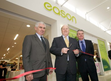 Minister Michael Noonan opening the Eason shop in Limerick today.