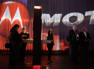 File photo of Motorola tablets being exhibited at a trade show in Las Vegas in January.