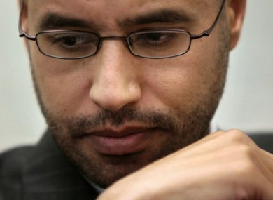 File photo of Saif Gaddafi.