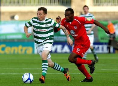 Gary McCabe and Joseph Ndo of Sligo.